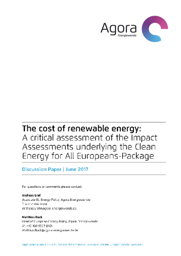 A critical assessment of the Impact Assessments underlying the Clean Energy for All Europeans-Package