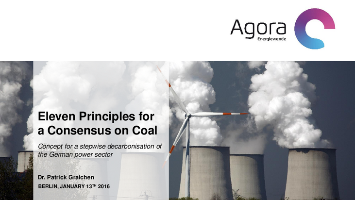 Concept for a stepwise decarbonisation of the German power sector