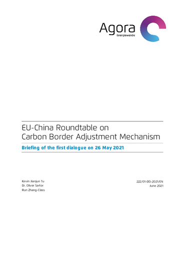 Briefing of the first dialogue on 26 May 2021