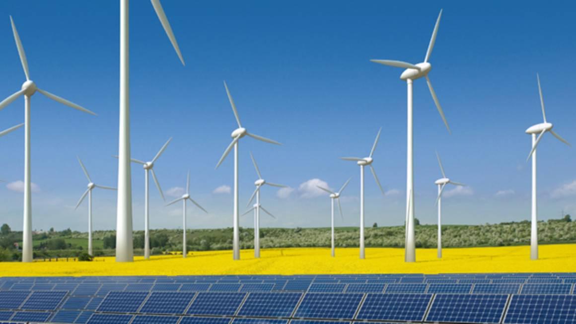 Plantas eólicas y solares