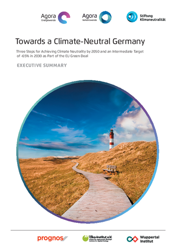 Three Steps for Achieving Climate Neutrality by 2050 and an Intermediate Target of -65% in 2030 as Part of the EU Green Deal