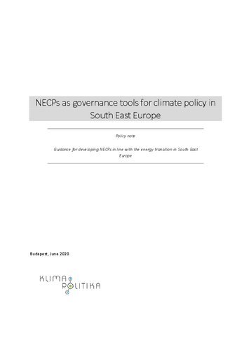 Guidance for developing NECPs in line with the energy transition in South East Europe