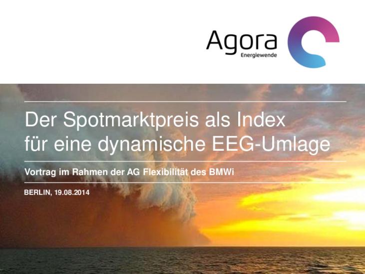 Vortrag im Rahmen der AG Flexibilität des BMWi